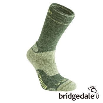 Bridgedale 英國機能襪-TK健行者 羊毛襪-中厚 女(橄欖綠)S