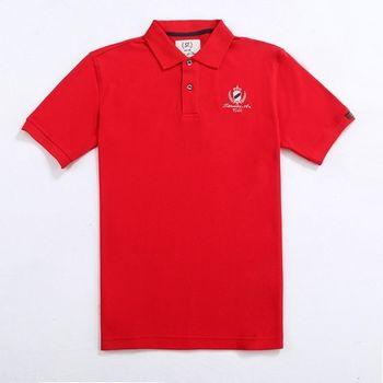 【stoney.ax】歐風經典美式POLO休閒衫-紅色