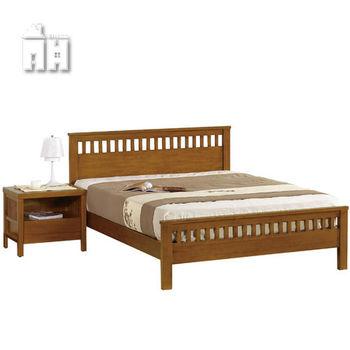 【AT HOME】李維5尺柚木雙人床(不含床墊)