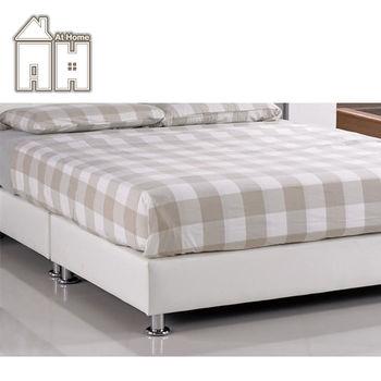 【AT HOME】雪莉5尺白皮雙人床底(不含床墊、床頭片)