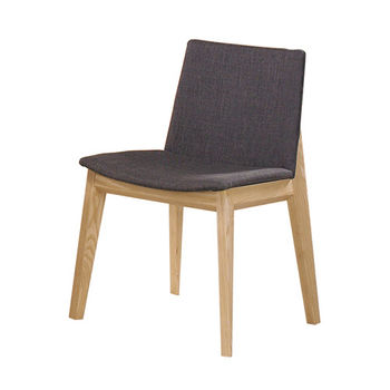 【AT HOME】維納斯深灰布餐椅(2色可選)