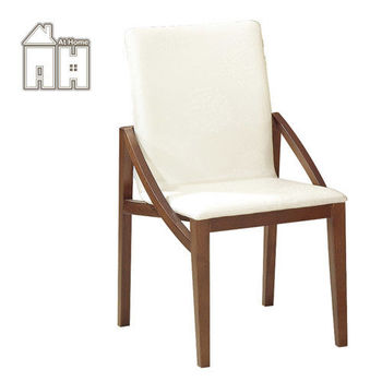 【AT HOME】格林頓胡桃白皮餐椅