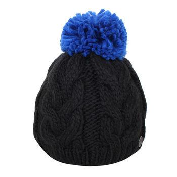 agnes b.  SPORT.b系列針織毛帽/黑(寶藍球)