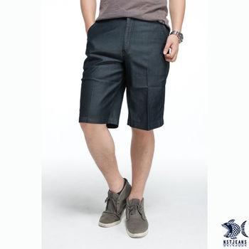 【NST Jeans】390(9293) 亮面彈力 吸排紗牛仔短褲(中腰)