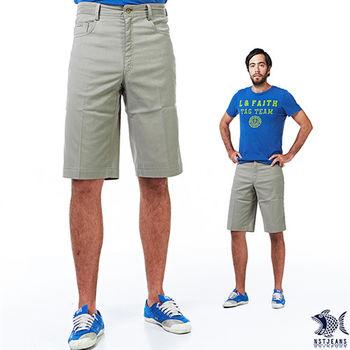 【NST Jeans】390(9330) 紳士 風格 簡約線條 卡其綠 休閒短褲 (中腰)