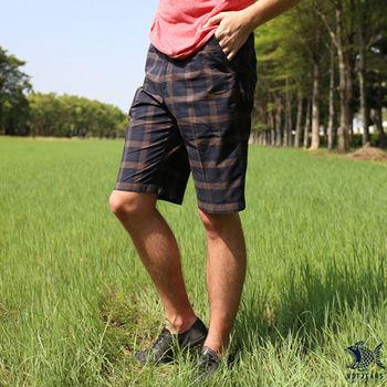 【NST Jeans】390(9351) 輕鬆夏日 格紋造型 休閒短褲(中腰鬆緊帶修身版)
