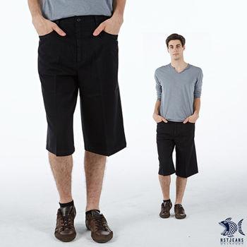 【NST Jeans】002(9362) 機能竹籤纖維 休閒短褲(中高腰鬆緊帶寬版)