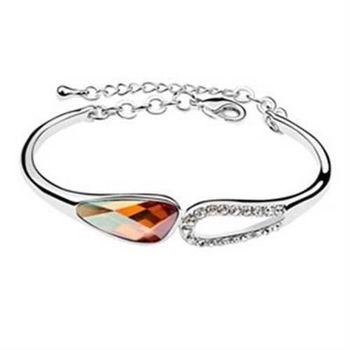 【米蘭精品】925純銀水晶手鍊銀飾尊貴流行時尚個性