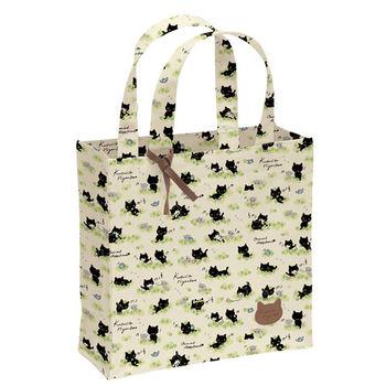 San-X 小襪貓貓朋友幸運草系列防水手提袋