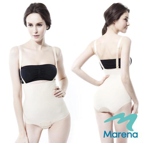 【美國原裝MARENA】腹部加強美體塑身衣(肩帶可拆) 膚色