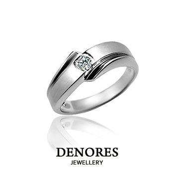 DENORES  LOVE STORY 10分天然真鑽戒指(男)