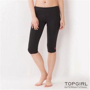 【TOP GIRL】韻律緊身七分褲(黑色)