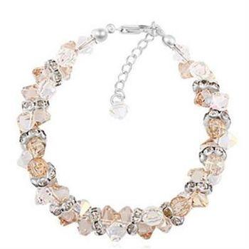 【米蘭精品】925純銀水晶手鍊銀飾華麗尊貴大方個性