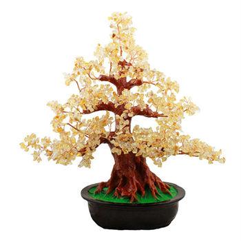 【SUMMER 寶石】超能量招財天然黃水晶樹-超大型(居家風水開運招財必備N601)