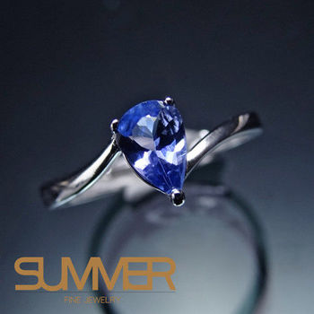 【SUMMER寶石】 設計款天然丹泉石戒指(時尚設計款-D-03)