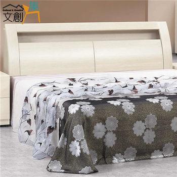 【文創集】拜默斯 木紋5尺雙人床頭箱(二色可選)