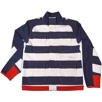 美國LA設計品牌【Suvnir】藍白橫紋立領外套