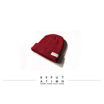 REPUTATION - 細針織毛帽 / 紅