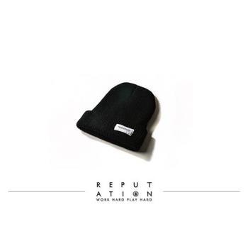 REPUTATION - 細針織毛帽 / 黑