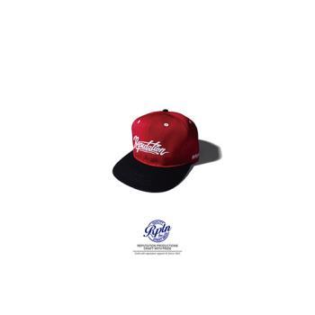 REPUTATION - 美式字體棒球帽 /  紅