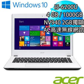 ACER 宏碁 E5-474G-570Y 14吋FHD i5-6200U 獨顯GT940 2GB 效能型戰鬥筆電