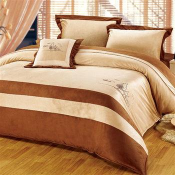 RODERLY 珊瑚絨 加大四件式 被套床包組-夢境