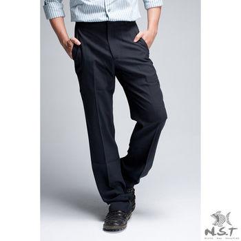 【NST Jeans】391(6901) 熟男 紳士 羊毛x彈性纖維 西裝褲 (中腰) 平面/無打摺/年輕款式