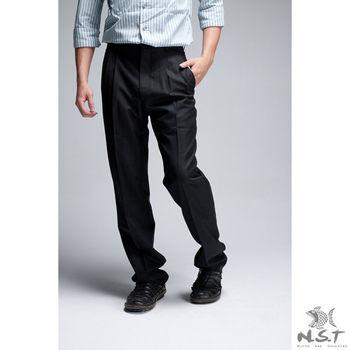【NST Jeans】001(7232) 熟男 紳士系列  羊毛x聚酯纖維 打摺西裝褲(中高腰寬版)