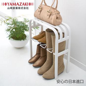 【YAMAZAKI】LINE輕感時尚置物鞋架(白)