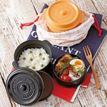日本 鑄鐵鍋造型 便當/野餐盒 - 共6色