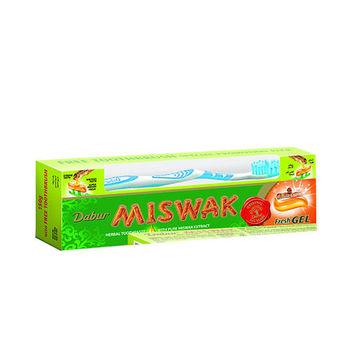 杜拜進口MISWAK刷牙樹無氟牙膏(大150克)加送牙刷 6入特惠組
