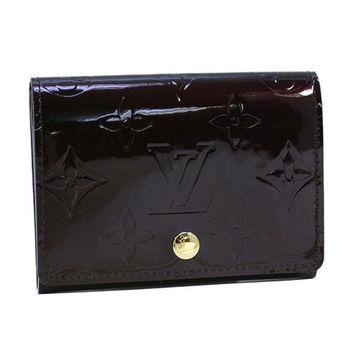 LV M91409 VERNIS漆皮壓紋信用卡名片夾.紫紅_預購