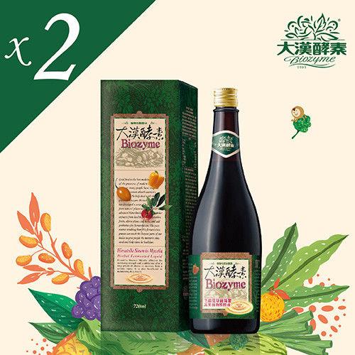 【大漢酵素】冬蟲夏草菌絲體蔬果植物醱酵液 (720mlx2瓶)