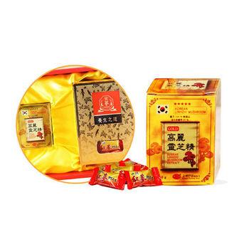 金蔘 高麗紅蔘糖200g/盒+靈芝濃縮精50g/罐(伴手禮盒組)