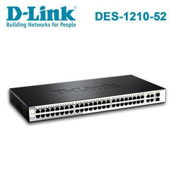 D-Link 友訊 DES-1210-52 企業網路 / Layer 2 10/100M 智慧型網管交換器