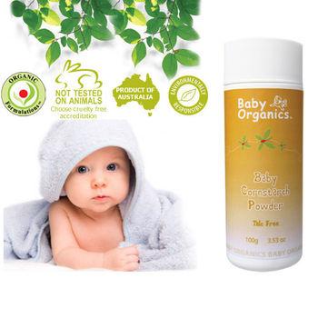 澳洲原裝 Baby Organics 天然寶寶爽身粉 100g ( 含澳洲ACO有機配方)