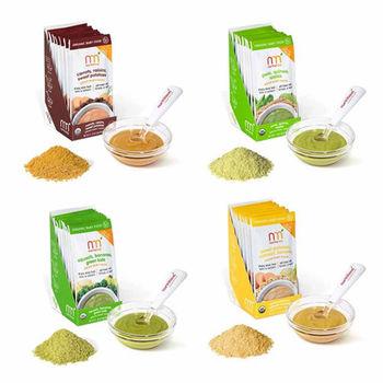 美國原裝NurturMe有機綜合蔬果寶寶副食隨身包4盒組 贈餵食袋1盒(3個)