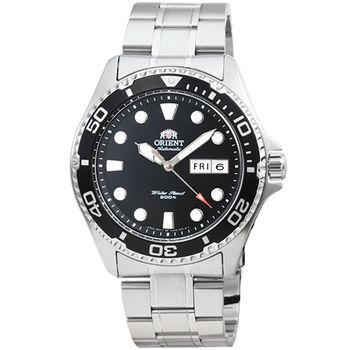 ORIENT 東方錶潛水機械鋼帶錶-黑 / FAA02004B (原廠公司貨)