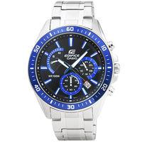 CASIO 卡西歐EDIFICE大錶徑三眼計時錶 ^#45 藍 ^#47 EFR ^#45