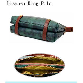 【Lisanza King Polo】牛皮多層斜揹包