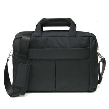 MAKSIM 型男商務休閒14吋筆電包側背公事包(1163黑)