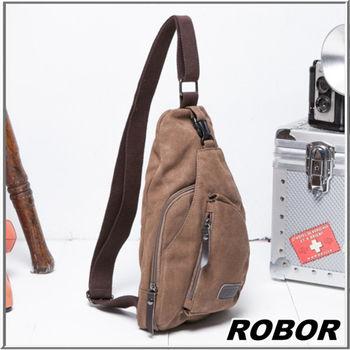 MAKSIM 潮流時尚必備單品/側背包/帆布包(6192棕)