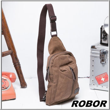 MAKSIM 輕便精簡俐落帆布單肩側背包 / 單車包 (8067棕)