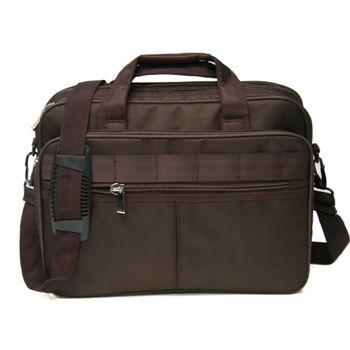 MAKSIM 潮流商務實用大容量14吋筆電包側背公事包(1162咖)