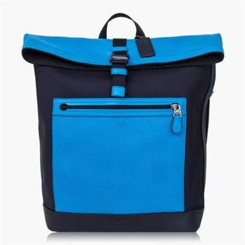 COACH 旅行必備 尼龍 / 背包 / 後背包_藍黑色