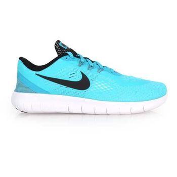 【NIKE】FREE RN -GS 女慢跑鞋 - 路跑 輕跑鞋 水藍白