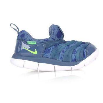 【NIKE】DYNAMO FREE PRINT-TD男女嬰童運動鞋-兒童 藍螢光綠