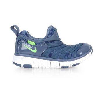 【NIKE】DYNAMO FREE PRINT-PS男女幼童運動鞋-兒童 藍螢光綠