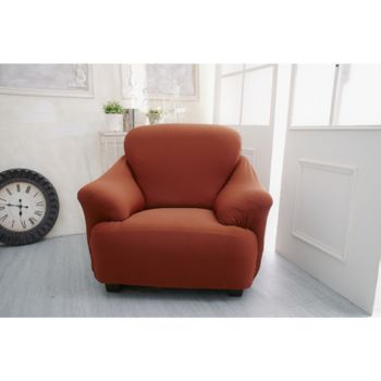 【Osun】一體成型防蹣彈性沙發套素色款(共九色1人座)