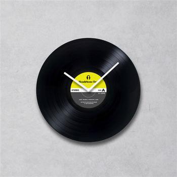 HeadphoneDog手工黑膠唱片時鐘(普普簡約款)